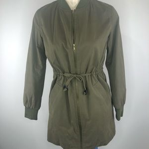 FOREVER 21-army colored zip front jacket S
